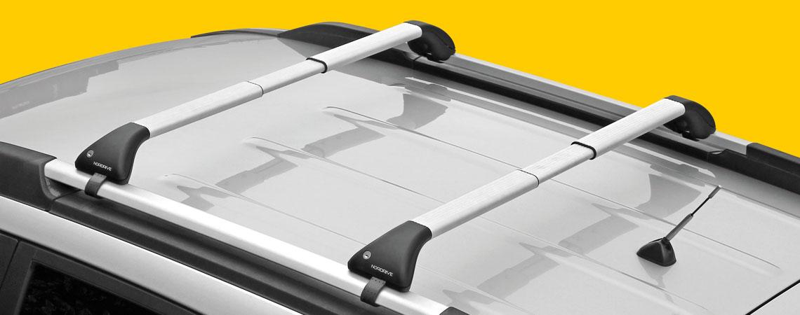 Snap-Fit Alu, coppia barre portatutto telescopiche in alluminio