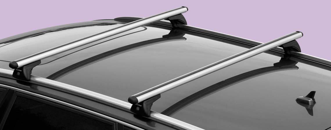 In-Rail Alu, coppia barre portatutto in alluminio