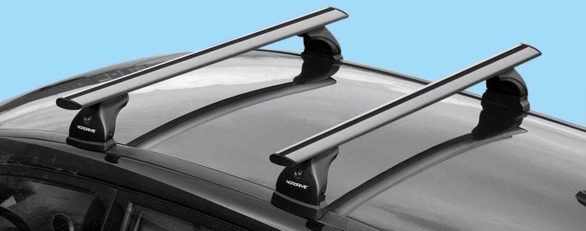 Silenzio, coppia barre portatutto in alluminio